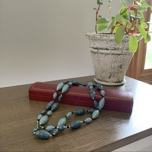 ✰ Blue Bead Necklace